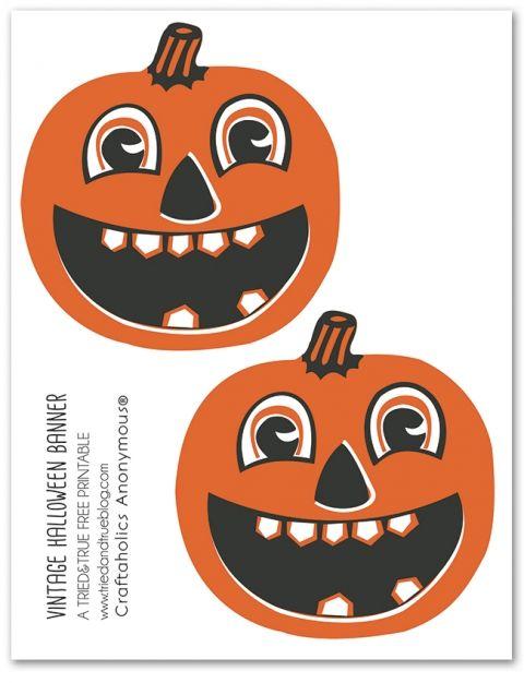 Vintage Halloween Banner Printable  on Craftaholics Anonymous