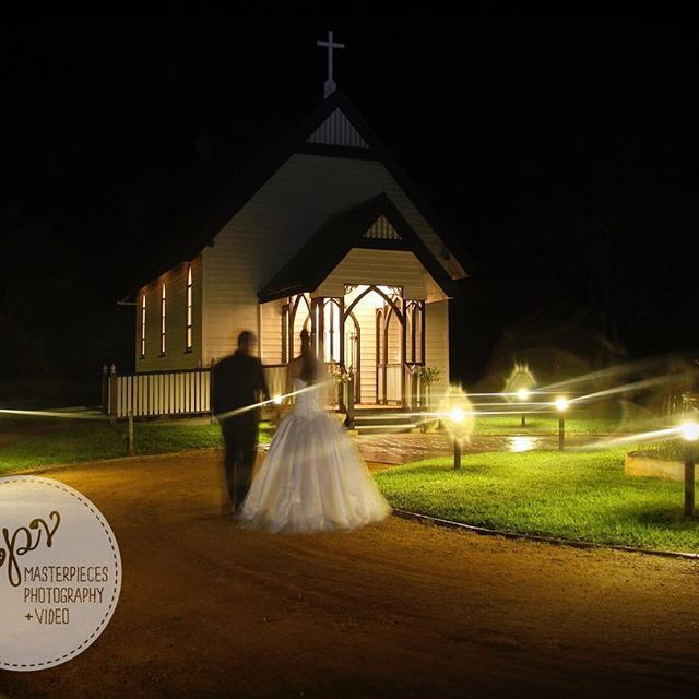 Spirits in the night... A slightly eerie view of Preston Chapel by night but actually a bit of fun as our couple wanted to appear as ghostly apparitions in this shot - what is the whimsical shot you want captured on your Wedding day? #night #church #ghost #apparition #Wedding #weddingphotography #weddingvideo #weddingfilm #brides #brisbaneweddings #brisbanebrides #gettingmarried #creatives #brisbane #canon #engaged #weddinginspo #brides #igersbrisbane #instaweddings #igers