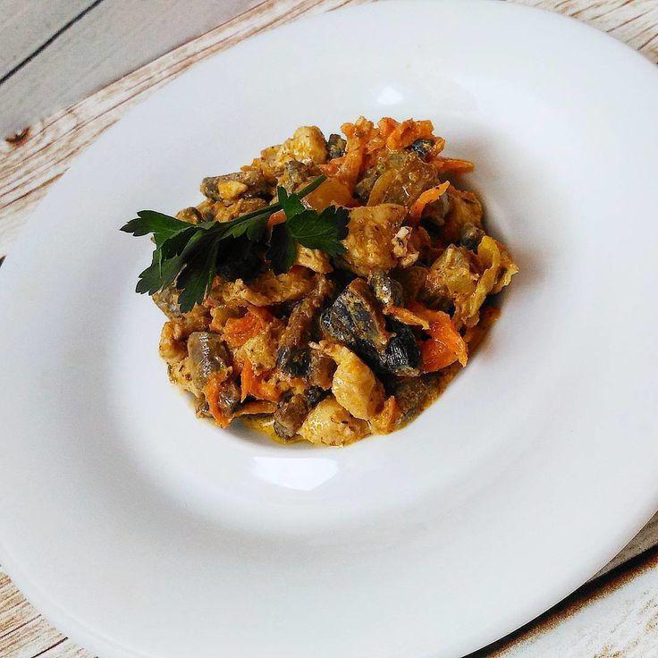 1,066 отметок «Нравится», 2 комментариев — Умная Кулинария (ПП) (@pp_kulinar) в Instagram: «Теплый салат. Ингредиенты: - Шампиньоны 400 гр - Грудка 400 гр - Морковь 1 шт большая - Лук 1 шт…»