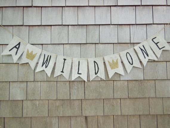 Where the Wild Things Are First Birthday Banner, Where the Wild Things Are Shower Decor, 1st Birthday Banner, 1st Birthday Burlap Garland