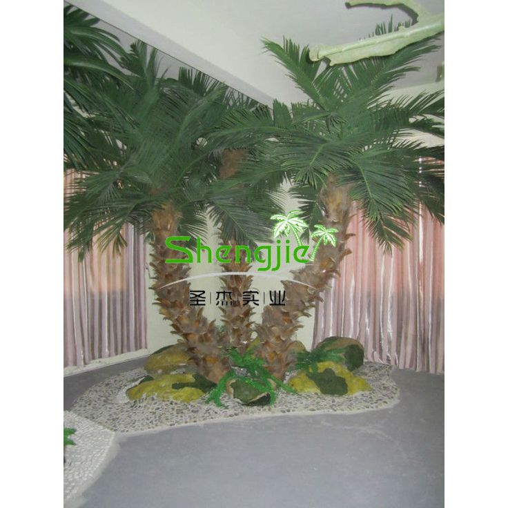 Bent artificial palm trees
