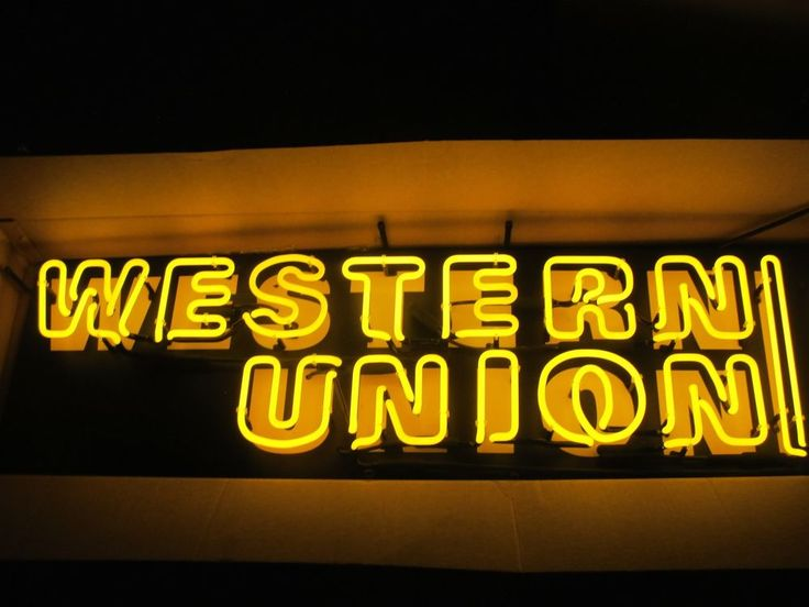 43 best everything else images on pinterest neon signs ale and beer large yellow and black western union neon sign new in original box solutioingenieria Gallery