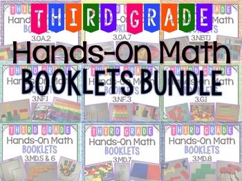 35 best math intervention images on pinterest math intervention hands on math booklets bundle all 3rd grade common core s fandeluxe Image collections