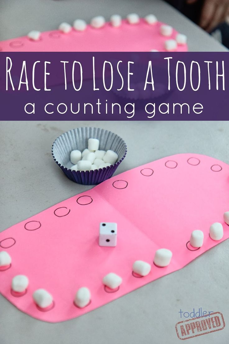 Race to lose a tooth: a counting game