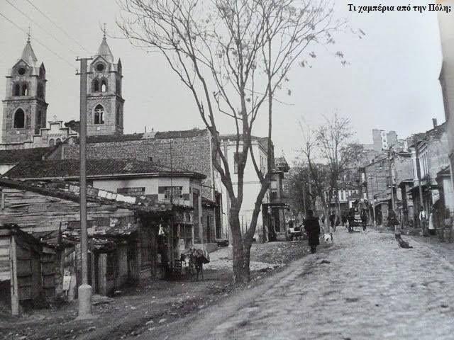 ✿ ❤ Bir zamanlar İSTANBUL,   Dolapdere (muhtemelen 1940'lı yıllar)...Solda görülen, bugün de varlığını sürdüren Evangelistria Kilisesi.