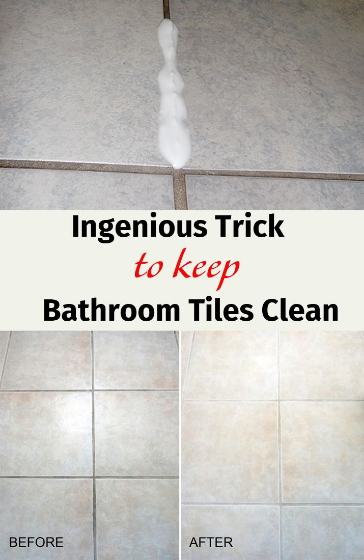 19 best bathroom and kitchen cleaning images on pinterest for Best way to clean bathroom tiles