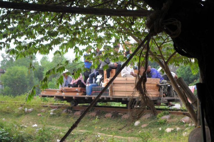 Working bamboo train - Pursat, Cambodia