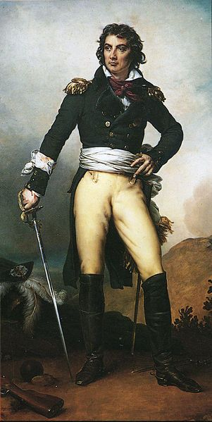 the dashing Maurice Joseph Louis Gigost d'Elbée, 1752-94, executed by firing squad on the island of Noirmoutier, by artist Paulin Guérin.
