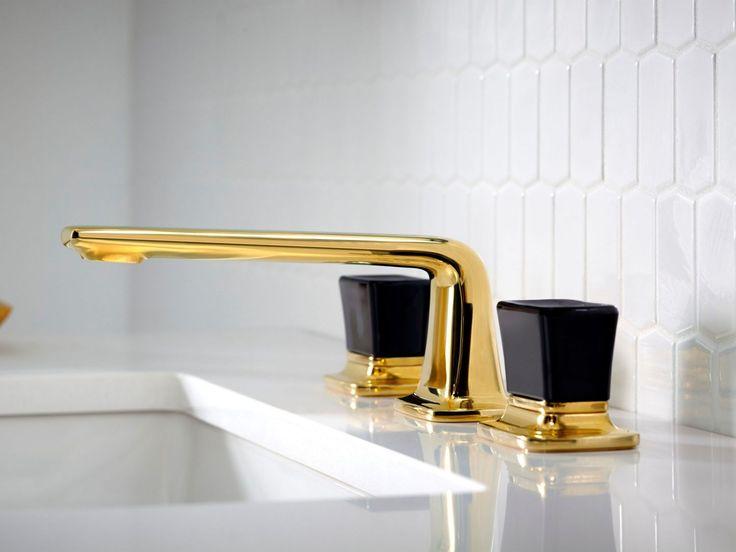 Per Se™ Sink Faucet, black Crystal Knob Handles