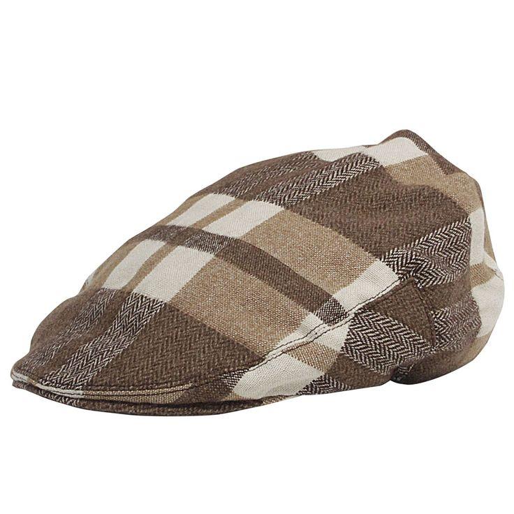 Model Flat Cap Beige with Brown