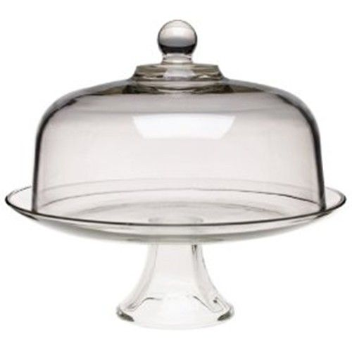 Anchor Hocking Cake Stand with Dome   Stands, Plates & Cooling Racks - House