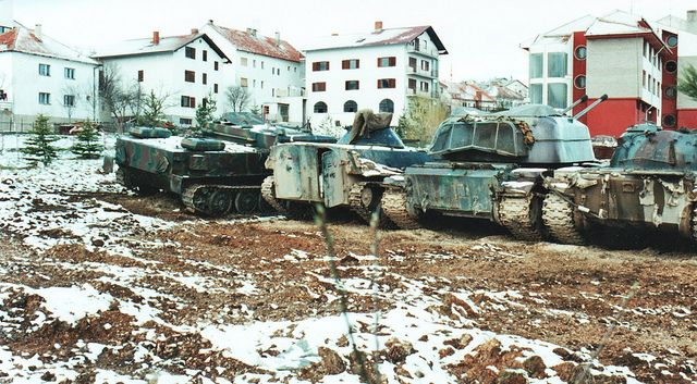 Various AFVs Tomislavgrad Bosnia 1993 by Cold War Warrior, via Flickr - This Day in History: Dec 20, 1995: NATO assumes peacekeeping duties in Bosnia