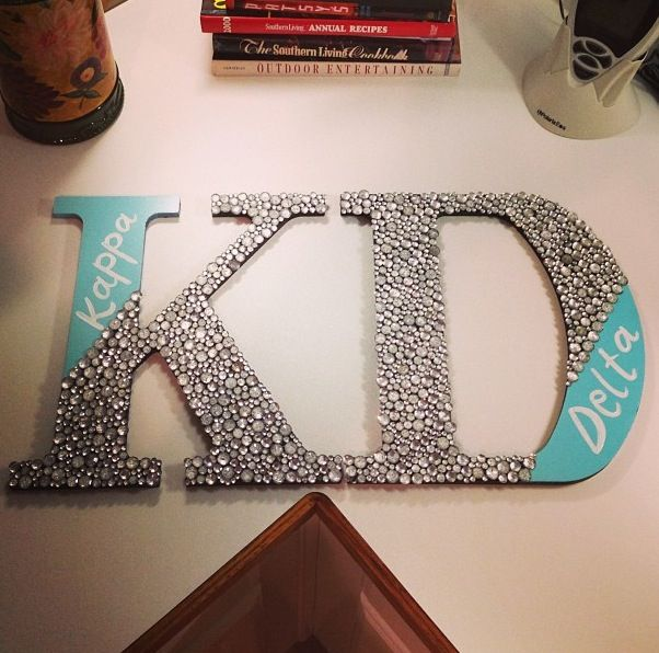Cute Dorm room decor! Instead of sororities put the two roommates' names!