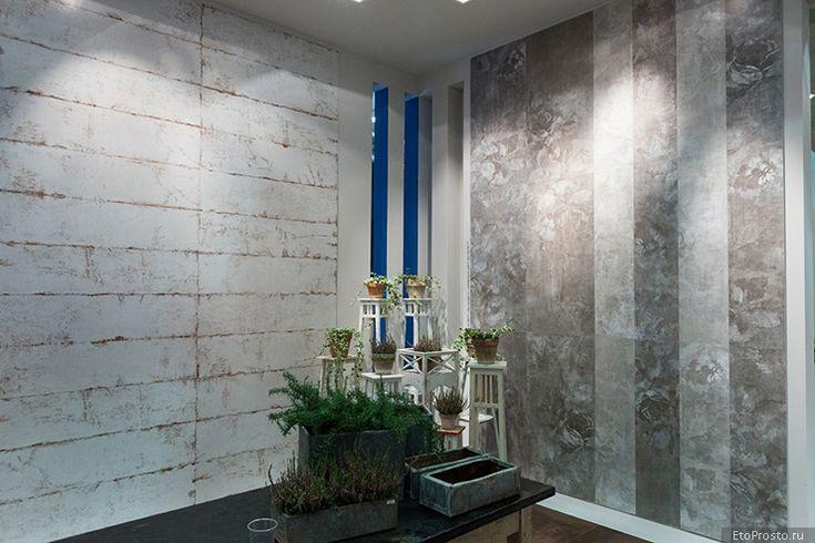 Интерьер с серой плиткой от дизайнеров фабрики ABK