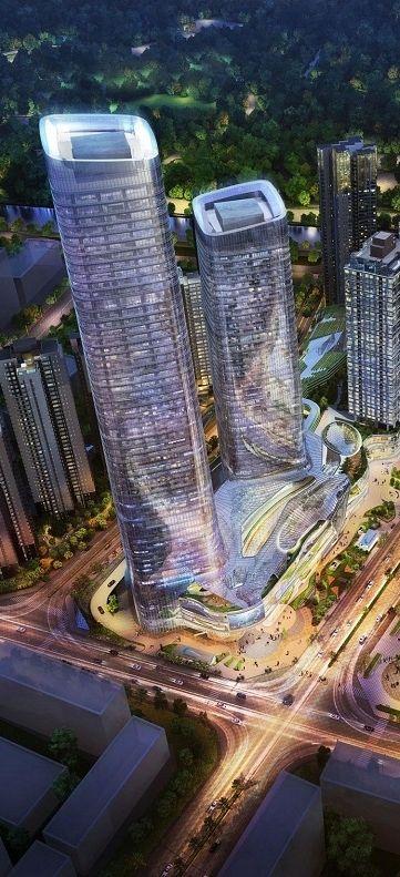 Chengdu ICC Tower, Chengdu, China by Gravity Partnership Architects :: height 280m