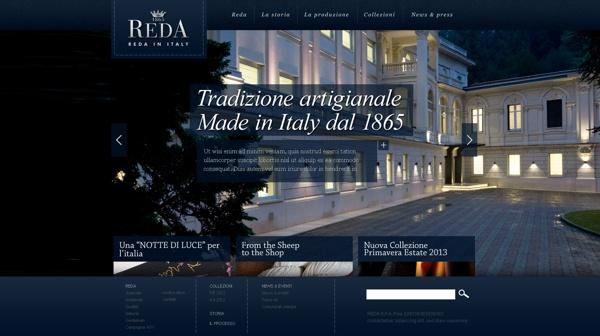 Reda Italian wool fabrics corporate website by Tommaso Carapelli, via Behance