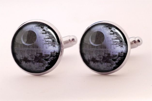 Spinki do mankietów Gwiazda Śmierci, 0255CS - EgginEgg - Biżuteria dla mężczyzn