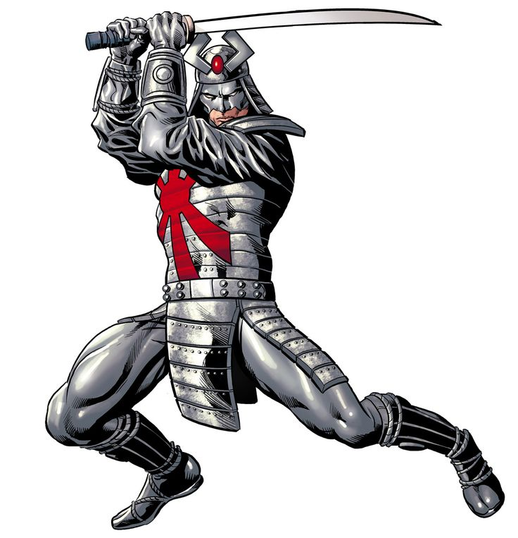 Silver Samurai. Colors by Rain,