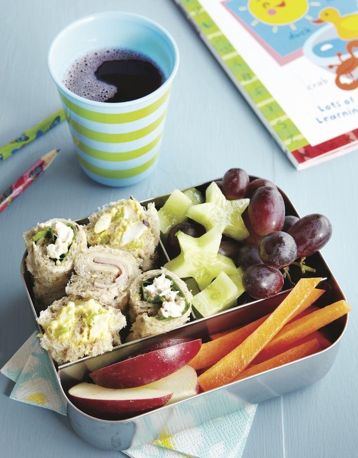 Sandwich Sushi - great lunchbox idea!