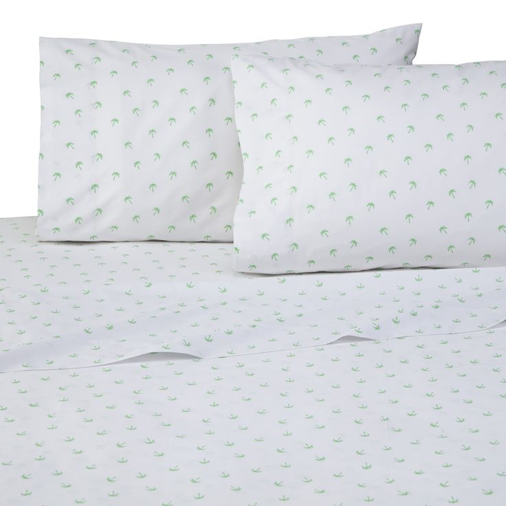 Palms 4 Piece 200 Thread Count 100% Cotton Sheet Set