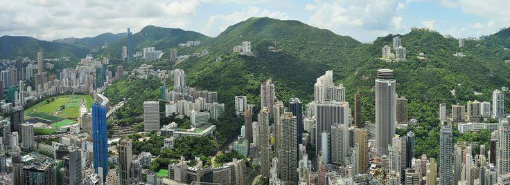 Hong Kong - panoramic - by khc1013    #architecture #Hong Kong #nikon d3 #panoramic #outdoor