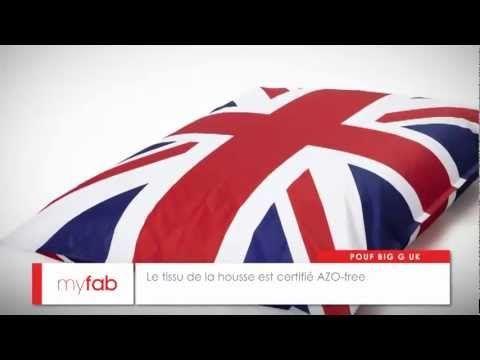 Pouf Big G UK par myfab