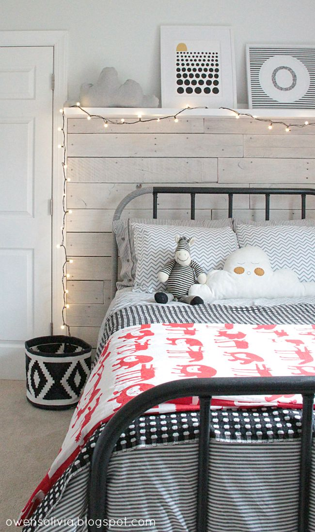 owen's olivia: A Schoolhouse Electric Inspired Bed - add washi tape! #washitape #schoolhouseelectric #kidsbed