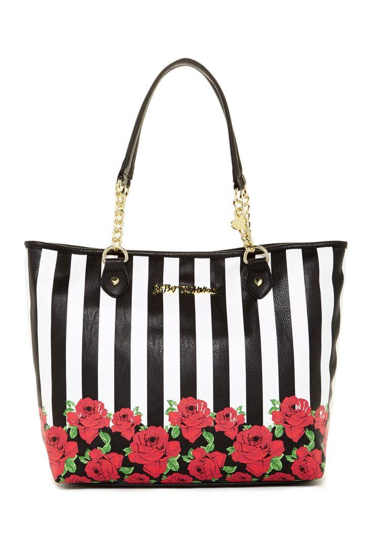 Betsey Johnson | Roses Stripes Done Tote | Nordstrom Rack