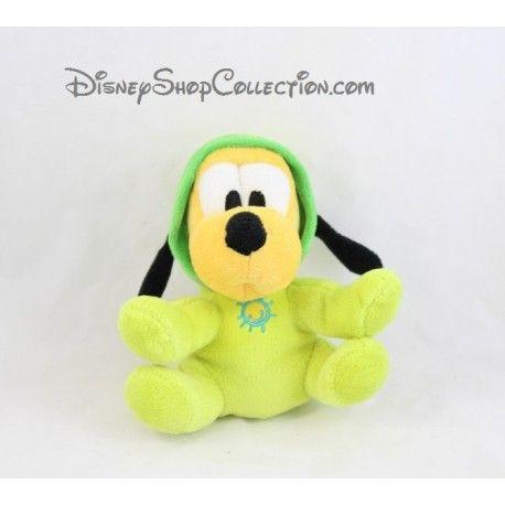 Peluche chien Pluto DISNEY NICOTOY vert capuche soleil brodé 16 cm