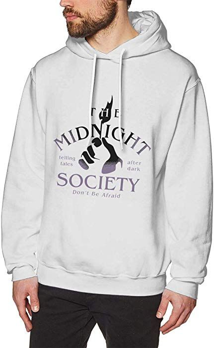 026dc60d8 Amazon.com: MFHS The Midnight Society Men's Hooded Hoodie White M Sweatshirt:  Clothing