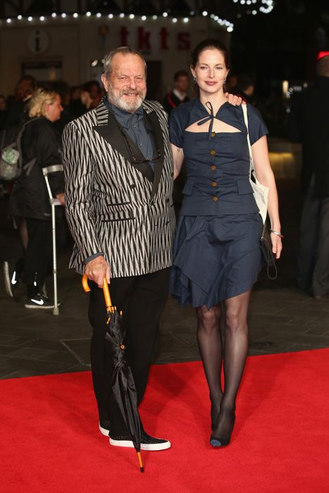 Terry Gilliam at the London Film Festival premiere of Captain Phillips