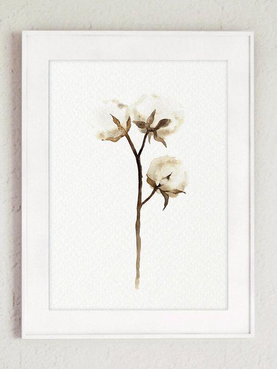 Decoración de la pared de la acuarela de las cápsulas del algodón. Conjunto de 2 algodón flores abstractas blanco marrón y Beige Home Decor. Lámina de pared Chic Shabby. Ilustración de la bola de algodón. Un precio es por el set de 2 diferentes pinturas de acuarela de algodón como en la primera foto.  Tipo de papel: Impresiones hasta (42 x 29, 7cm) 11 x 16 pulgadas tamaño se imprimen en el archivo ácido libre 270g/m2 papel acuarela blanco y conserva el aspecto de la pintura original. Más...