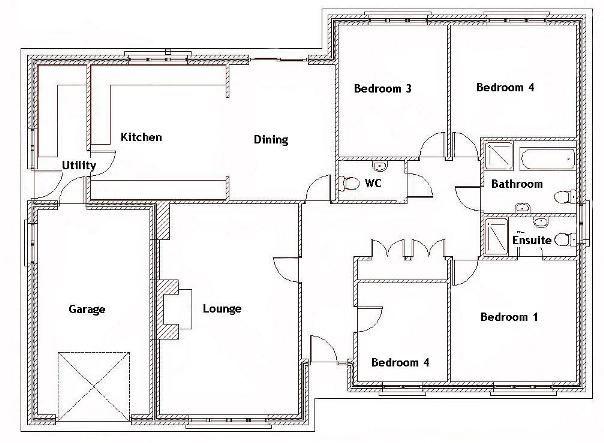 Best 25+ Four Bedroom House Plans Ideas On Pinterest