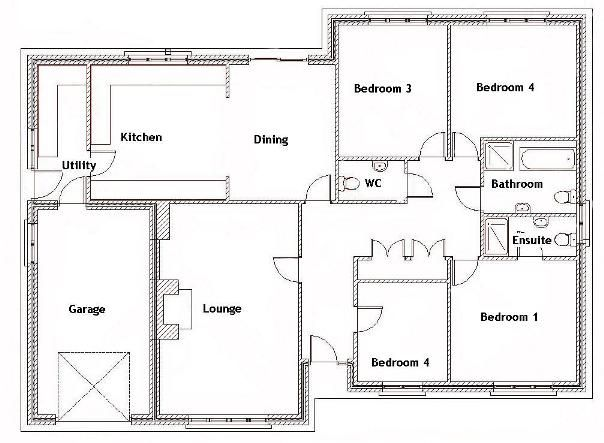 Fabulous 17 Best Ideas About Four Bedroom House Plans On Pinterest One Largest Home Design Picture Inspirations Pitcheantrous