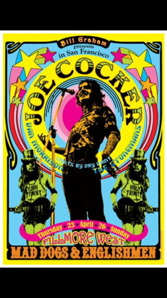 Joe Cocker, Van Morrison, The Stonemans - Fillmore West - April 26 - Mad Dogs and Englishman Tour