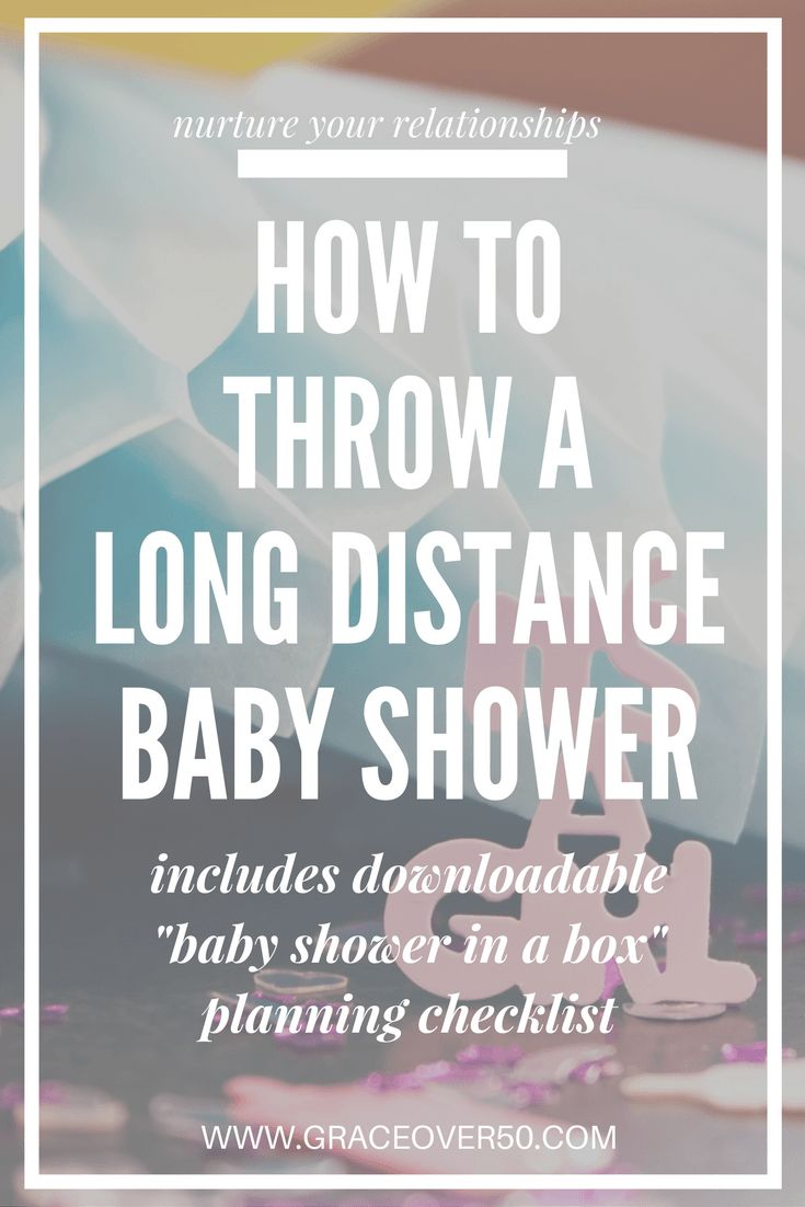 It's hard to be far away from loved ones when baby is coming! Show her how much you care by organizing a long distance, virtual baby shower. This post has photos detailing the entire process and a downloadable planning checklist so you can plan one, too!