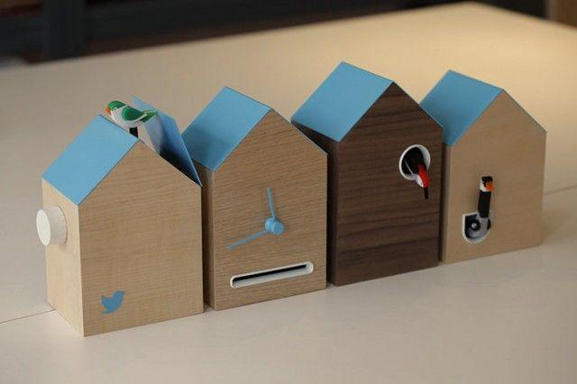 Flock pendule tweet 2 640x426 Flock : la pendule coucou qui signale l'heure et les tweets