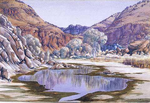Palm Valley by Albert Namatjira 1940.  museumsyndicate.com