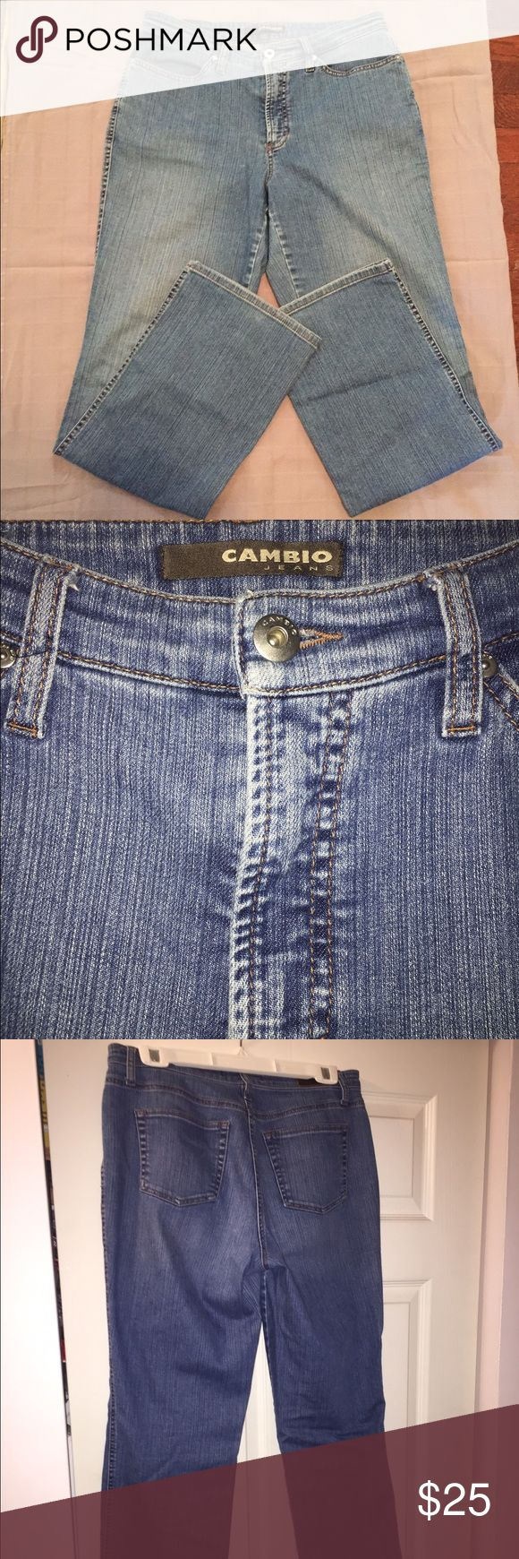 Cambio blue jeans size 12. Soft jeans have a great fit, boot leg. Cambio Jeans Boot Cut