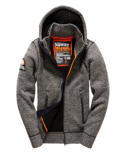 Shop Superdry Mens Expedition Zip Hoodie in Concrete Twist. Buy now with  free delivery from the Official Superdry Store.