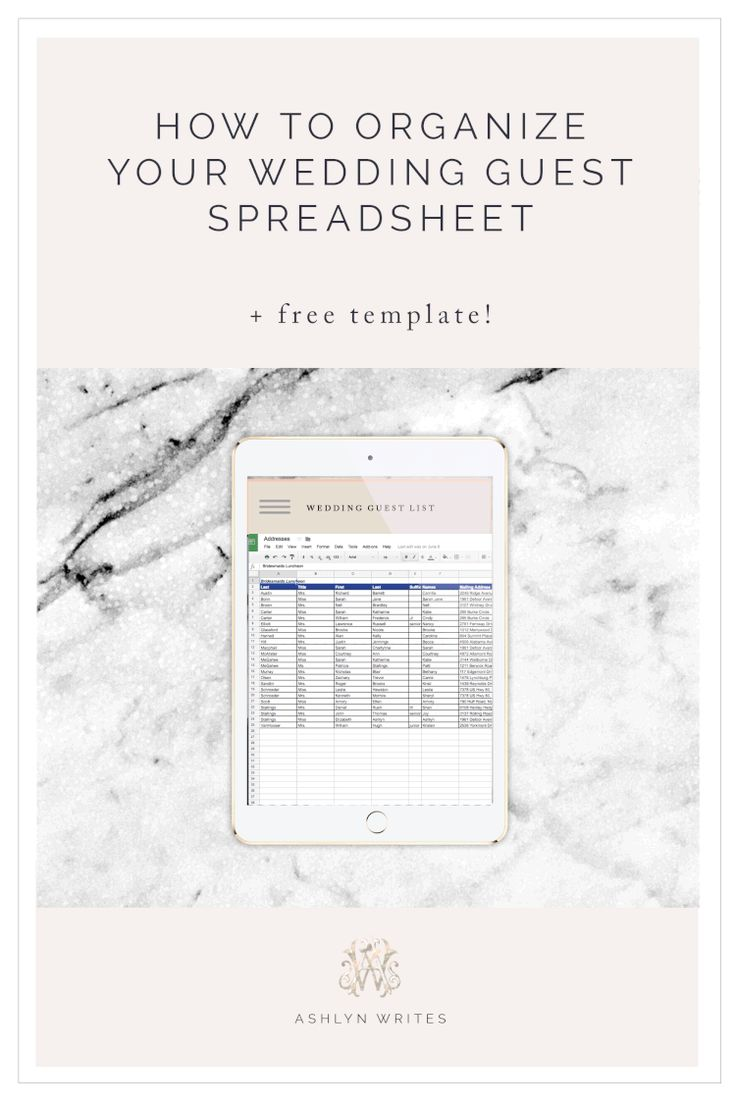 How to Organize Your Wedding Guest Spreadsheet (PLUS free
