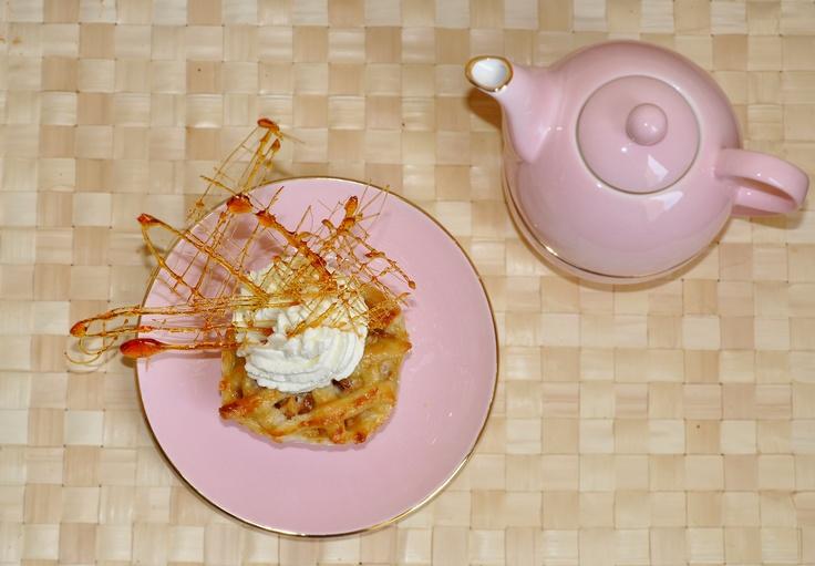 Mini appel-pie, Sugar spun decoration