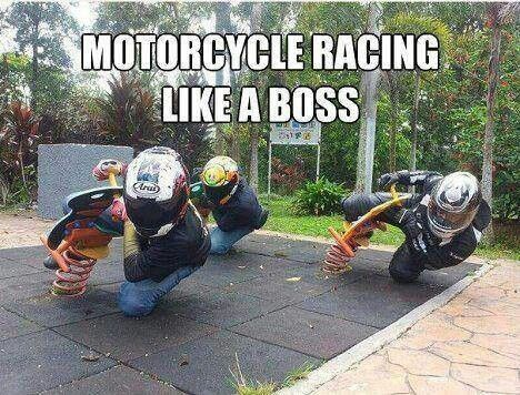 A bit of fun to finish up the week! Motorcycle racing like a boss. #motorcycles
