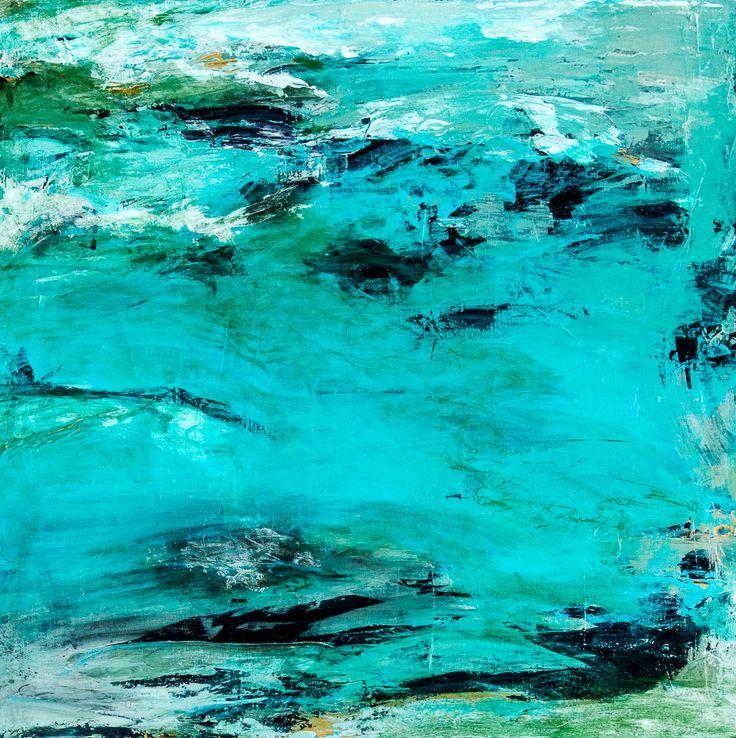 Deep Dive, 30 x 30 Acrylic on Canvas