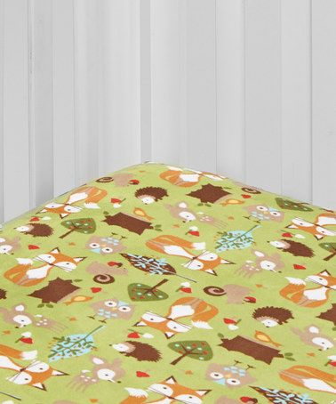 Look at this #zulilyfind! Kiwi Forest Friends Fitted Crib Sheet #zulilyfinds  @kristylockwood   Going with this one!!