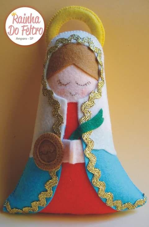 Feltro Fácil: Santa Luzia em Feltro com molde - parte 1