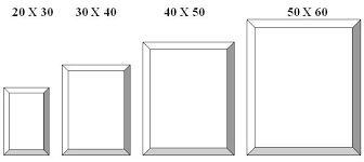 Resultado de imagen para tamaños estandar de marcos