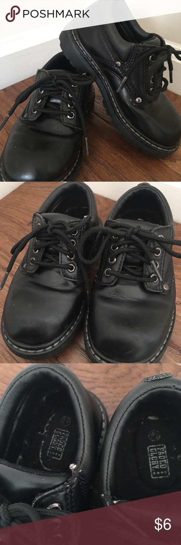 Faded Glory Black Toddler Dress Shoes Size 8.5 Your little guy will look so dapper in these sweet dress shoes! Worn only once but are a reposh from another seller. Faded Glory Shoes Dress Shoes