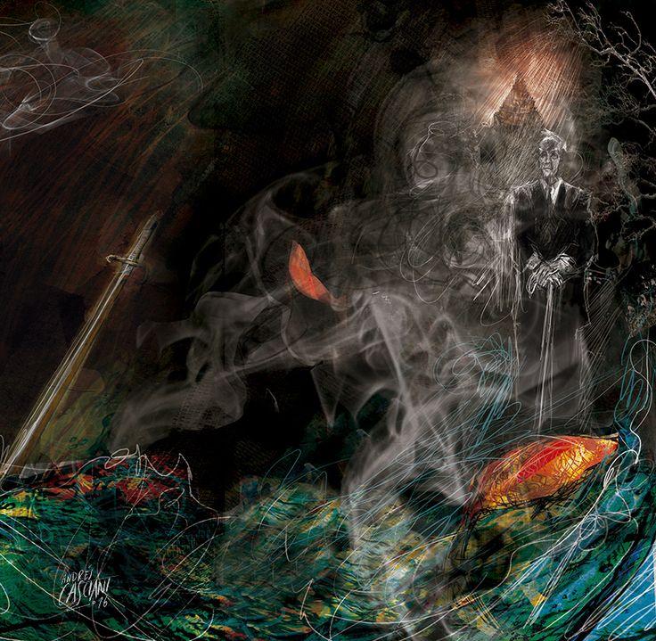 """""""Nadie rebaje a lágrima o reproche  esta declaración de la maestría  de Dios, que con magnífica ironía  me dio a la vez los libros y la noche"""".  (""""Poema de los dones"""" J.L.Borges)  Un día como hoy de 1986 se iba el grandísimo escritor. *ilustración digital realizada por Andrés Casciani. Portada del libro """"Borges en Sur"""" ( Editorial Sudamericana, Random House Mondadori, 2016)  http://andrescasciani.com…"""
