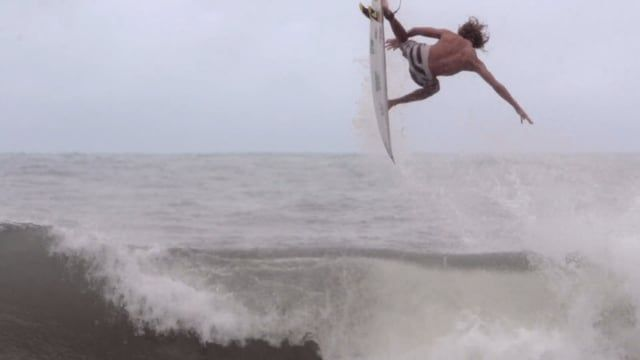 Tow Maloney Surf And Ireland - Guys sets himself on fire before surfing a huge wave